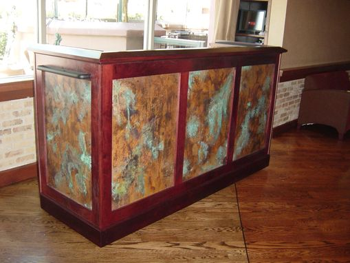 Hand Crafted Restaurant Mobile Bar By Ck Valenti Designs