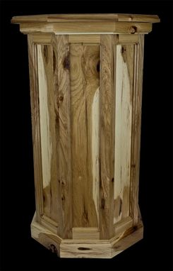 Custom Made Very Rustic Hickory Flat Panel Taxidermy Pedestal