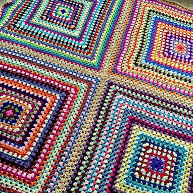 Custom Made Babylove Brand Four Square Blanket