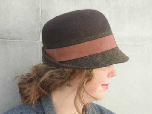 Hand Crafted Women s Wool Felt Bowler Derby Hat-Custom Design Ladies ... e384c03e7bf3