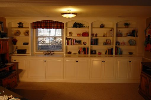 Custom Made Family Room Cabinetry