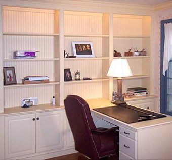 Custom Made Traditional Custom Home Office Cabinetry