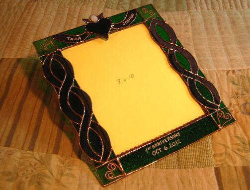 Custom Made Irish Claddagh 1st Anniversary Picture Frame
