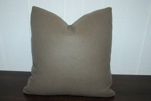 Custom Made Solid Wool Olive Green Pillow Cover