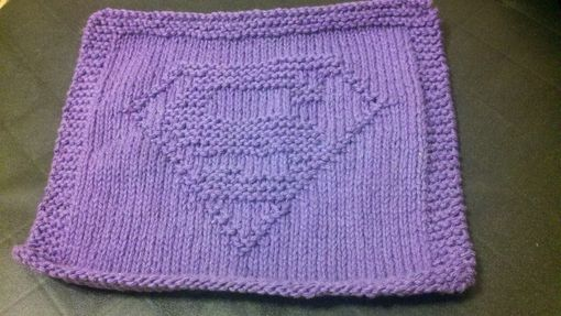 Custom Made Purple Hero Knitted Cottoncloth For Bathroom, Kitchen, And More