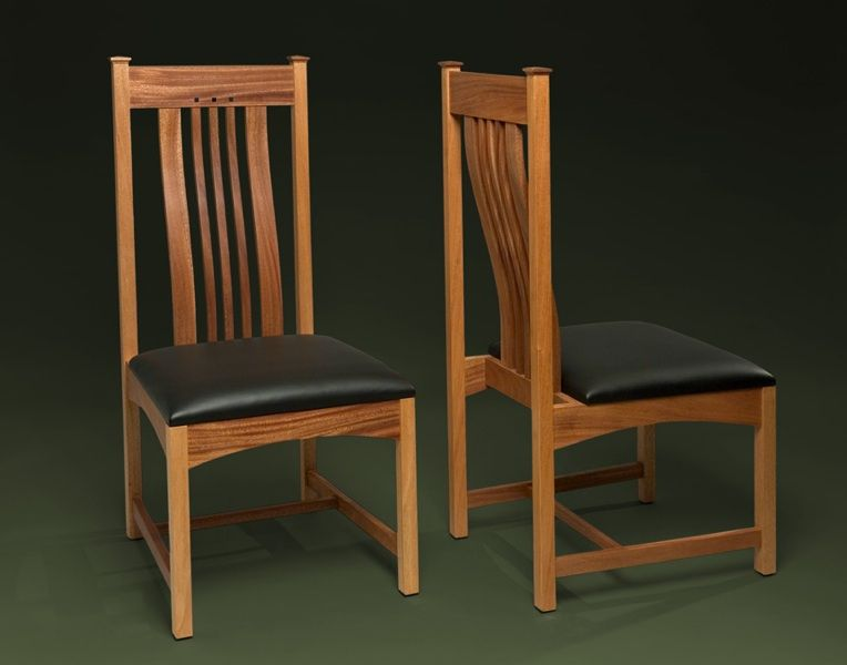 Handmade Mahogany Dining Room Chair With Lumbar Support By