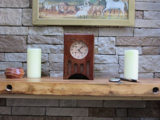 Custom Made Craftsman Style Mantle Clock, Solid Cherry (117)