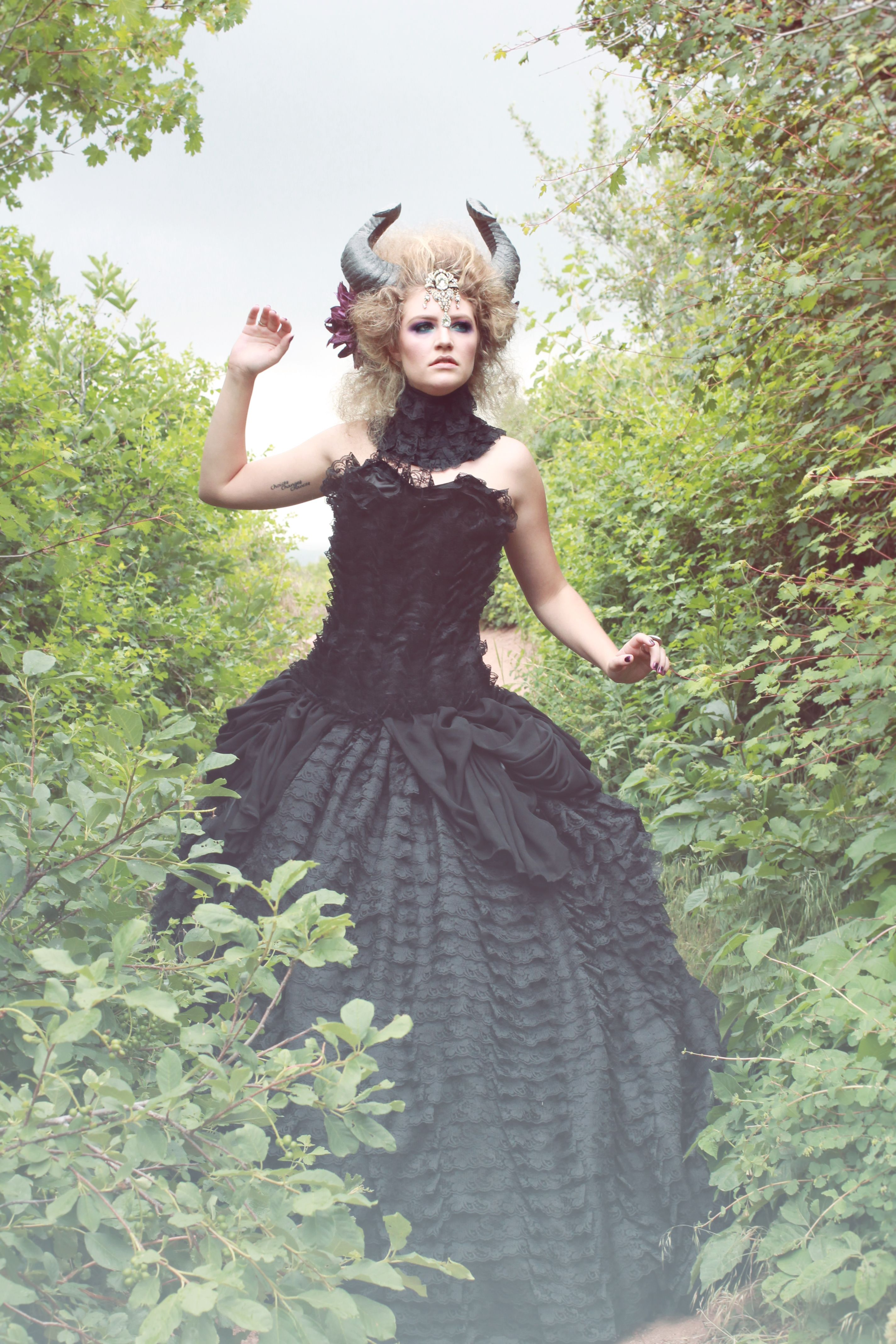 Custom Lace Gothic Wedding Gown by Parasite Eve Designs | CustomMade.com