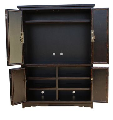 Custom Made Asian Inspired Plasma Cabinet