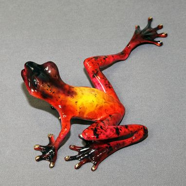 "Custom Made ""Samson"" Bronze Frog Statue Figurine Amphibian Art Limited Edition Signed Numbered"
