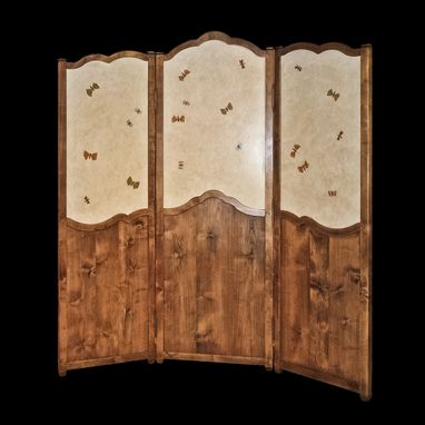 Custom Made French Country Folding Screen / Room Divider
