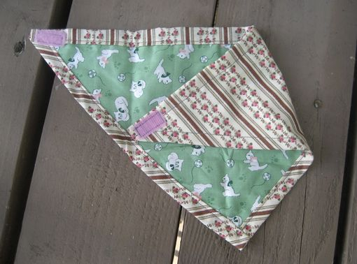 Custom Made Vintage Rose Bandana Bib For Baby