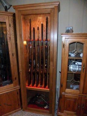 hand made gun cabinet by port wood works custommade com 11536 | 11536 66460