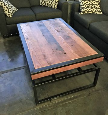Custom Made Reclaimed Floating Top Coffee Table
