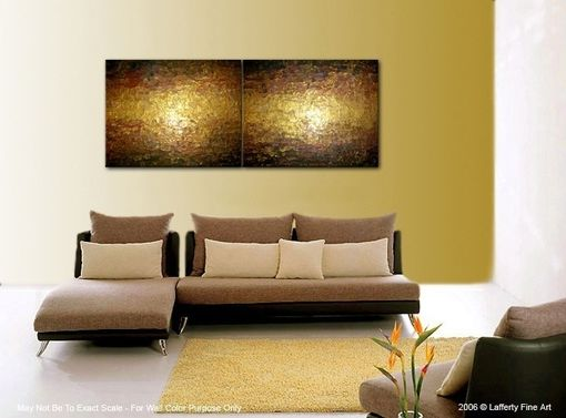 Custom Made Abstract Gold Painting, Palette Knife Art, Original Bronze Metallic, Textured Gold Bronze Art 72x24