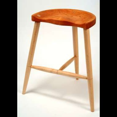 Custom Made Cathance River Stool- 30 Inches