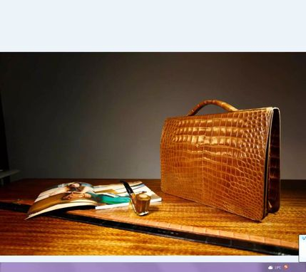 Custom Made Saltwater Crocodile Leather Briefcase