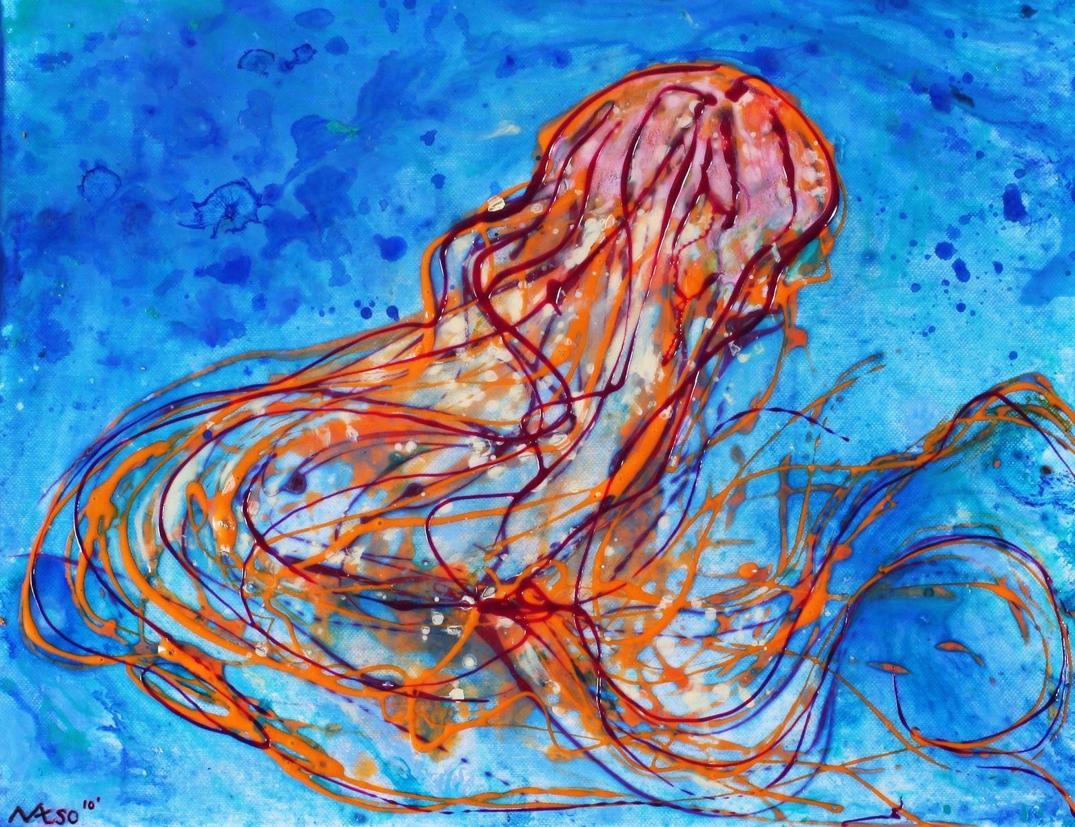 hand made custom jellyfish paintings by natsoart custommade com
