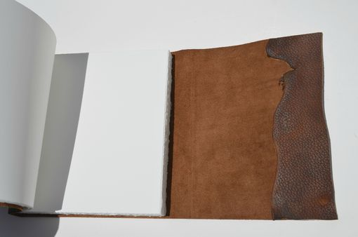 Custom Made Large Bound Leather Planner Journal Handmade Notebook Copper Monogram (452c)