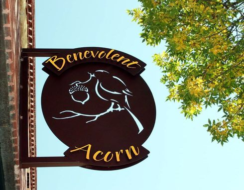 Custom Made Benevolent Acorn Gallery Sign