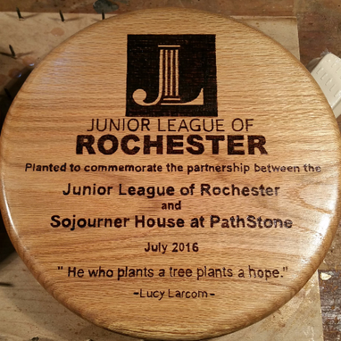 Custom Made Memorial Tree Plaque