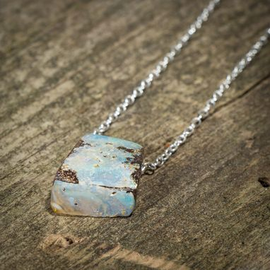 Custom Made Select Handmade Australian Boulder Opal Pendant Necklace