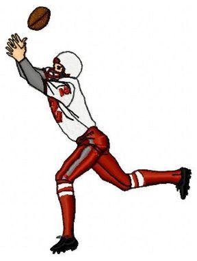 Custom Made Football Player Embroidery Design