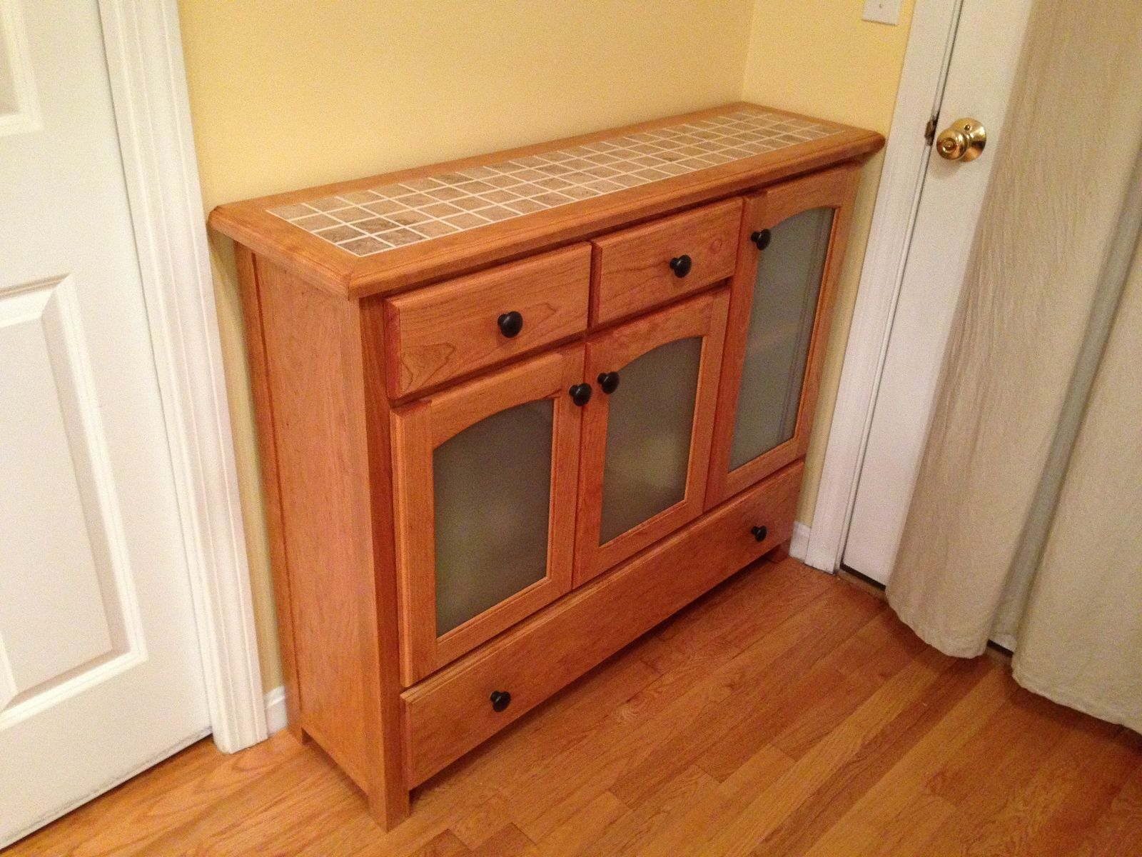 Hand Crafted Liquor Cabinet And Buffet Table by Scavone\'s Workshop ...