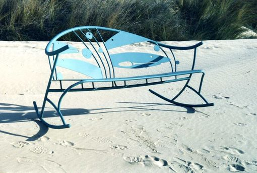 Custom Made Hungry Fish Rocking Bench