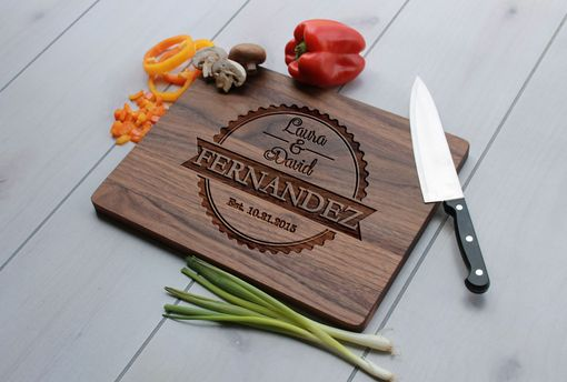 Custom Made Personalized Cutting Board, Engraved Cutting Board, Custom Wedding Gift – Cb-Wal-Fernandez Family