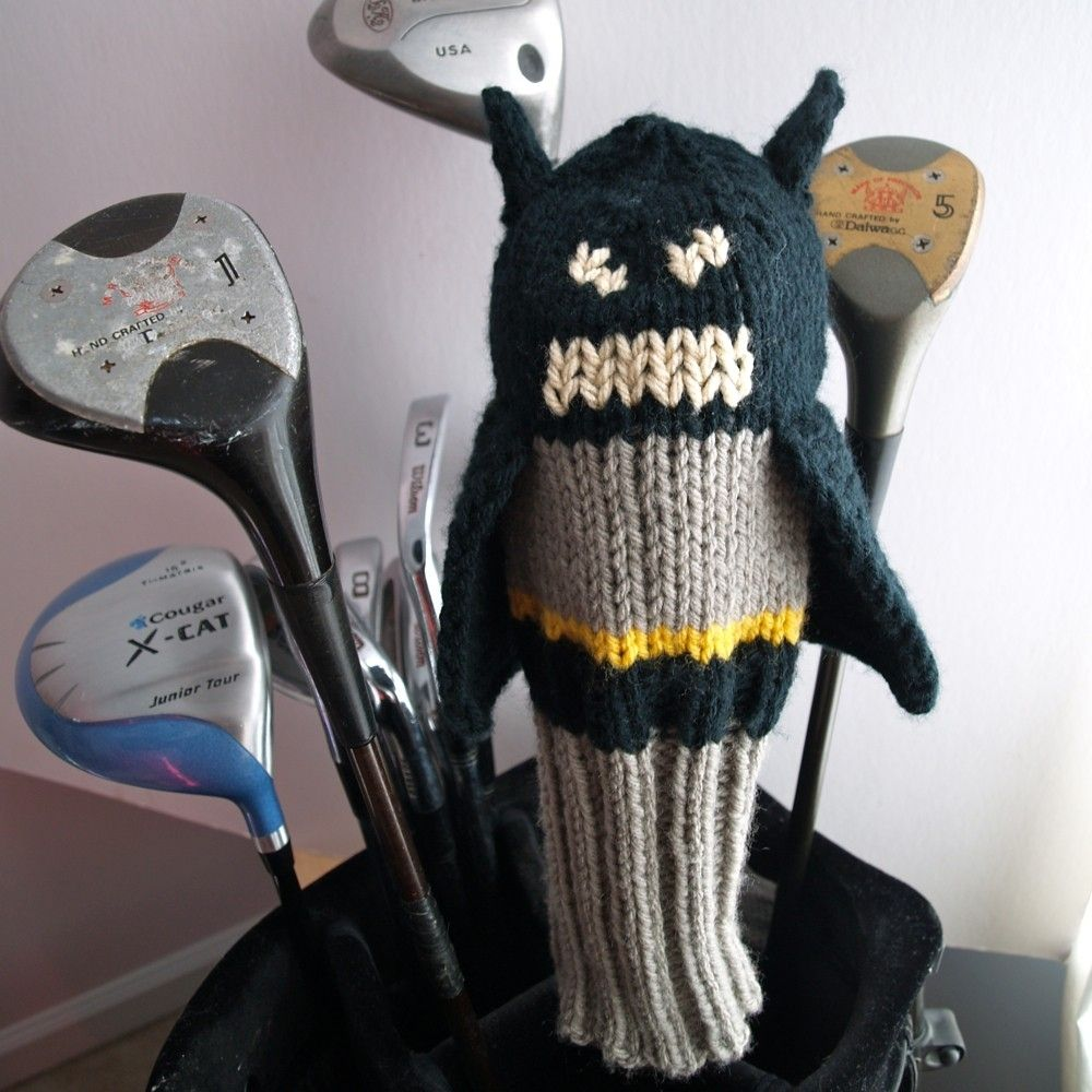 Hand Crafted Knit Pattern Justice League Golf Club Cover Collection ...
