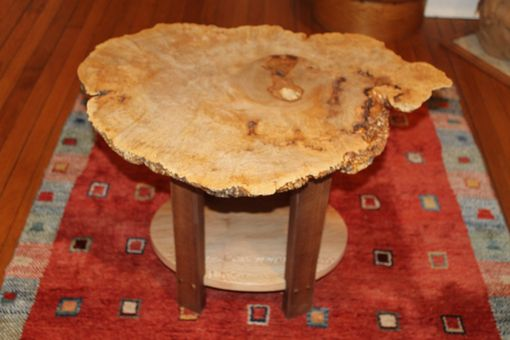 Custom Made Sycamore Burl Table With Live Edges