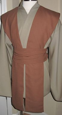 Custom Made Wool Gabardine Jedi Tunic & Wool Crepe Tabards,Sash/Obi,Star Wars Costume 4pcs