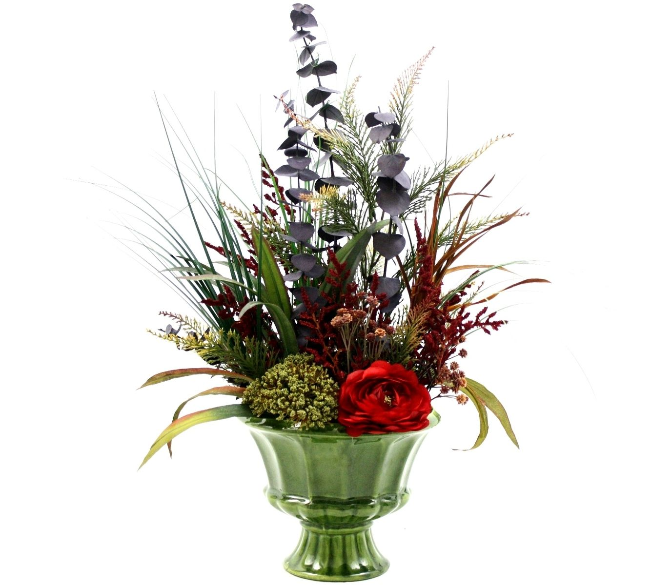 Custom spring decor silk flower arrangement home for Dining table flower arrangements