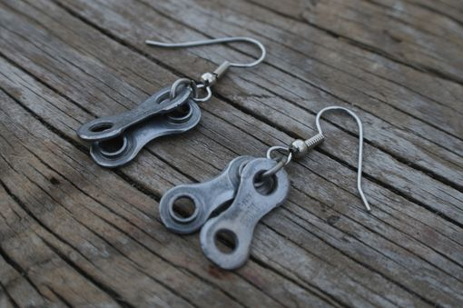 Custom Made Bicycle Chain Earrings