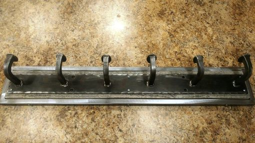 Custom Made Railroad Spike Coat Rack, Metal And Reclaimed Wood Coat Rack With Bent Railroad Spike Hooks