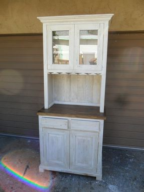 Custom Made Hutch From Reclaimed Rustic Wood.