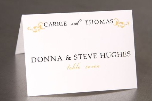 Custom Made Wedding Place Cards - Elegant Flourish - Escort Cards Custom Designed