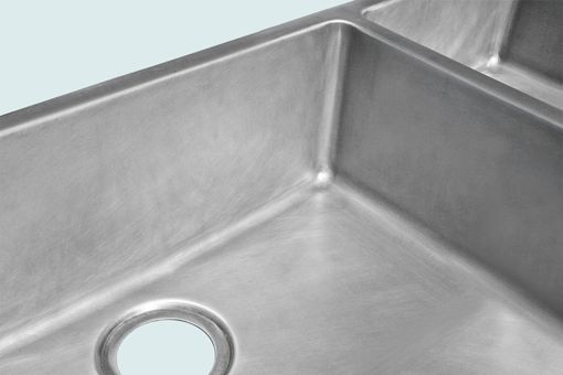 Custom Made Zinc Sink With Apron & 2 Bowls