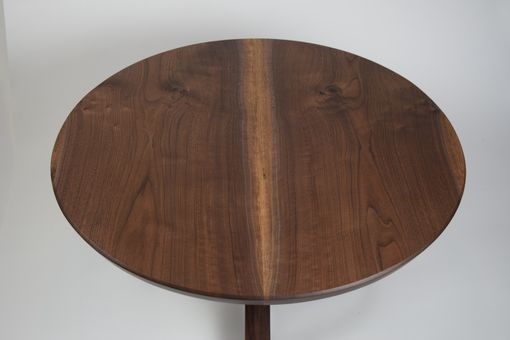 Custom Made Oregon Black Walnut Coffee Table, Round With Pedestal Base