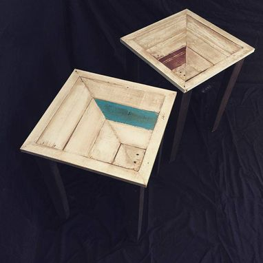 Custom Made Modern/Chic Chevron Pattern End Tables
