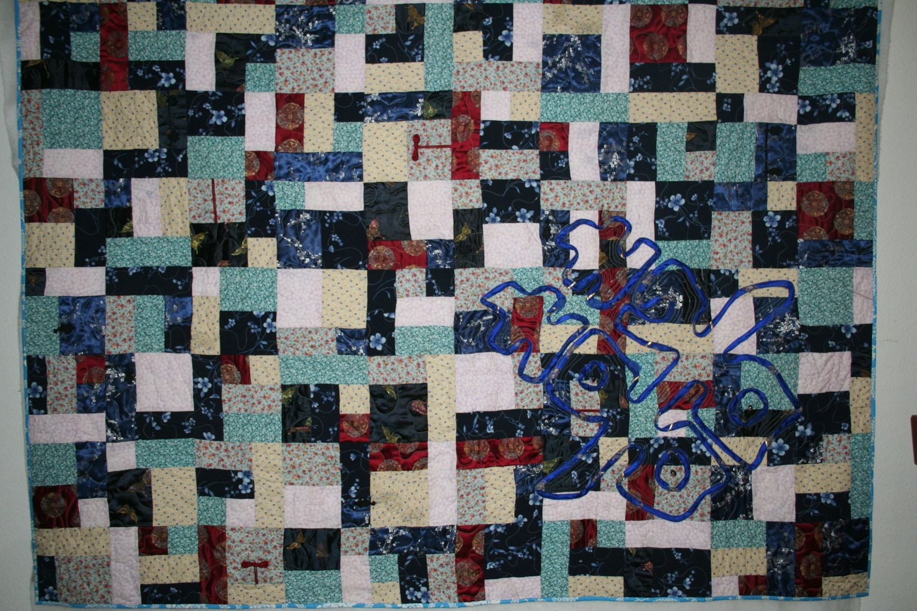 Hand Crafted Memory Quilt Made From Clothing By Quilt M
