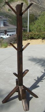 Custom Made Redwood Clothes And Accessory Hanger