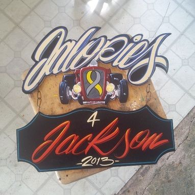 Custom Made Wall Hang Sign, Surf Board