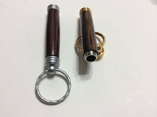 Custom Made Exotic Cocobolo Secret Compartment Keychains