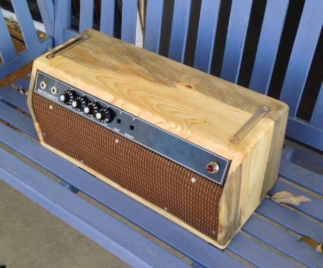 hand crafted custom guitar amp and cabinet by dan hehnke electric guitars. Black Bedroom Furniture Sets. Home Design Ideas