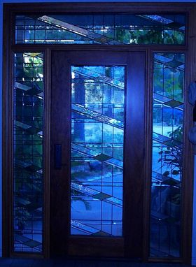 Custom Made Solid Mahogany Door With Ripple Glass (Nellsch)