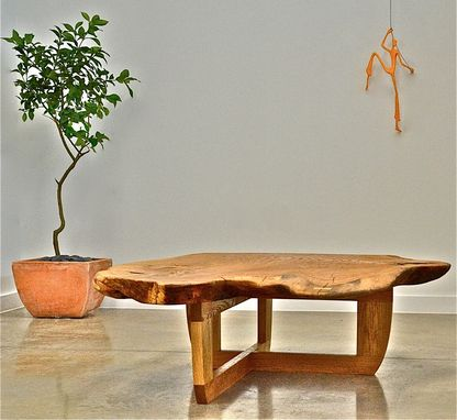 Custom Made White Oak Live Edge Coffee Table