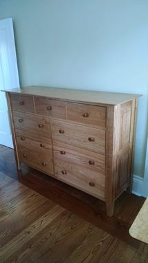 Custom Made Solid Cherry 9 Drawer Dresser.