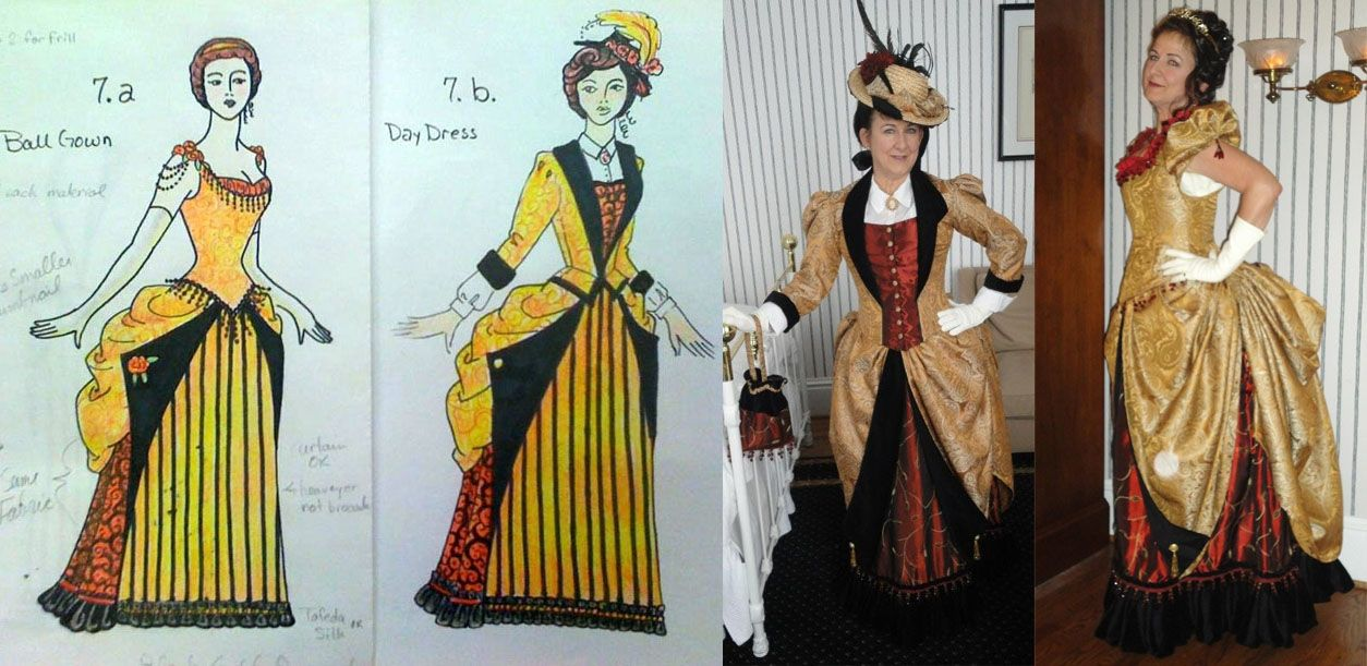 Hand Crafted Late Bustle Victorian Dresses 1883-1889 by ...